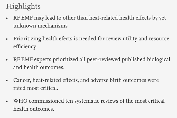 WHO Selection of Systematic Reviews Highlights