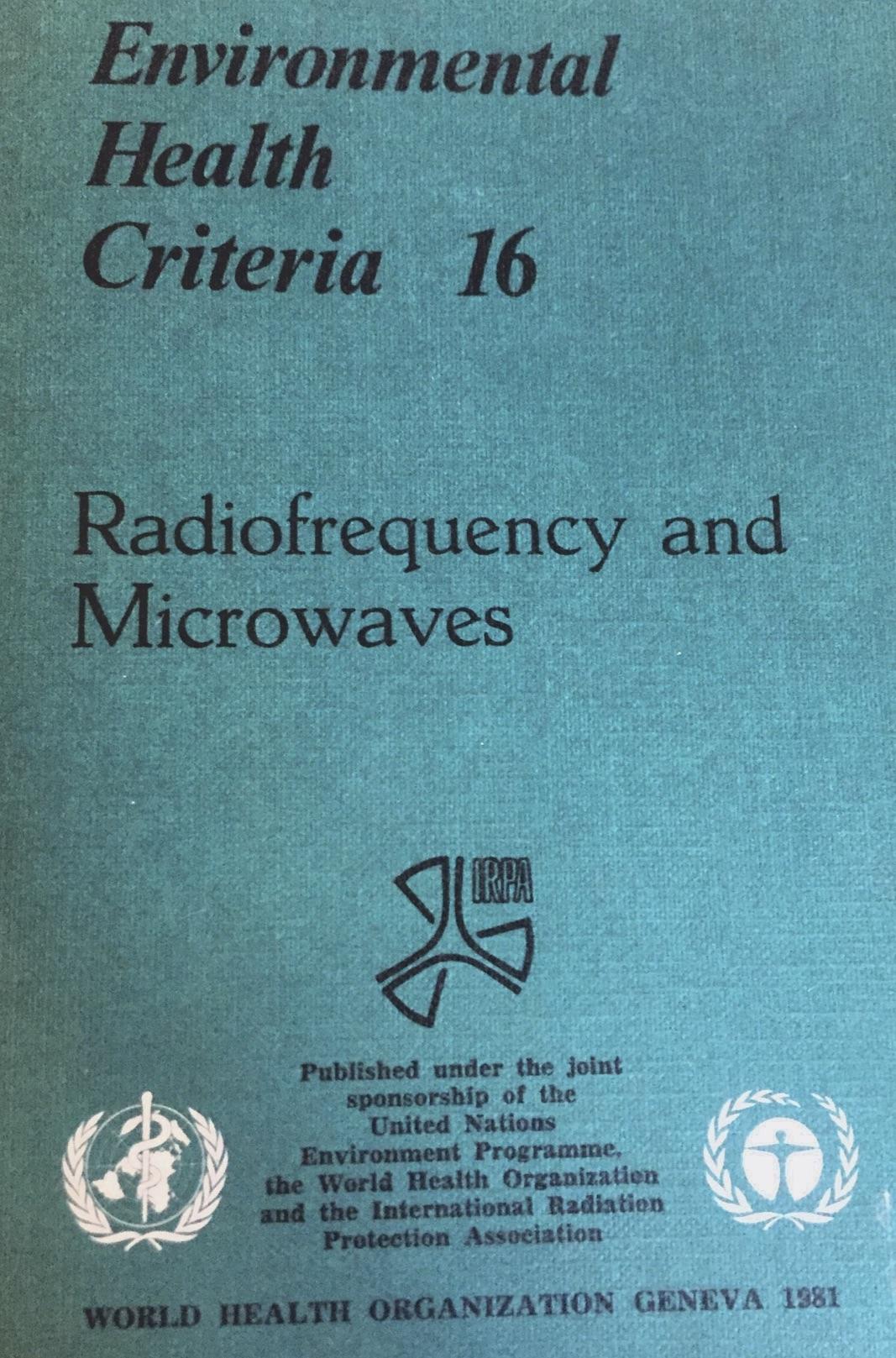 WHO RF EHC 1981